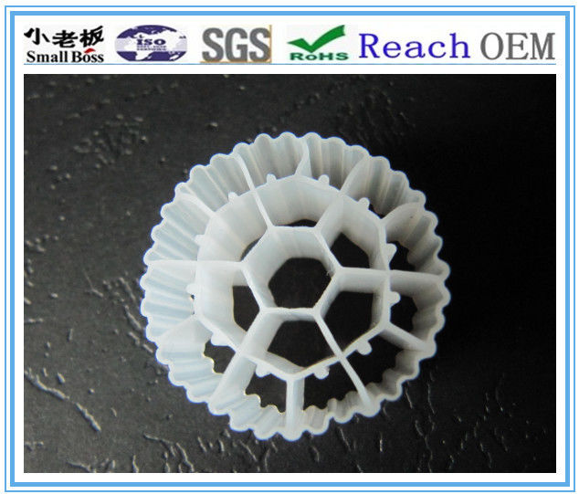 Long Service Life MBBR Bio Media With White Color And Virgin HDPE Material For RAS
