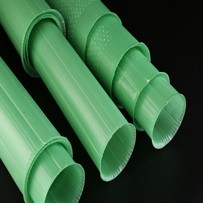 PP Corrugated Plastic Plant Guards Green Color UV Resistant 60cm Length