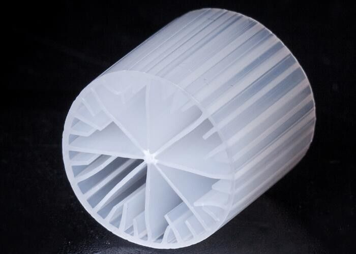 White Color MBBR Filter Media Virgin HDPE Material 15*15mm Size Bio Media For Fish Pond